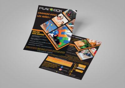 Création d'un flyer spécial entreprises pour Playbox à la Roche sur Yon en Vendée