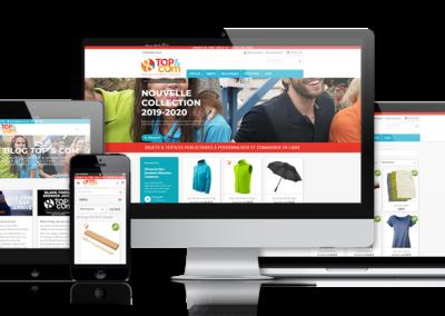 Création du site internet E-commerce TOP & COM