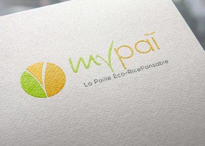 Création du logo MyPaï, pailles écologiques et biodégradables.