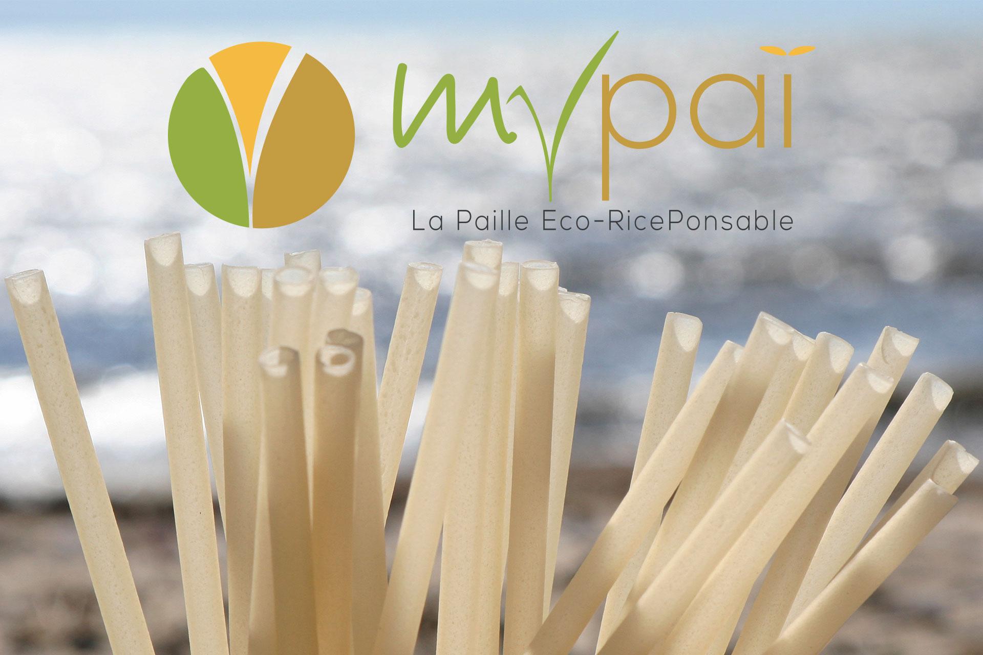 Création graphique MyPai, la paille Eco-Riceponsable