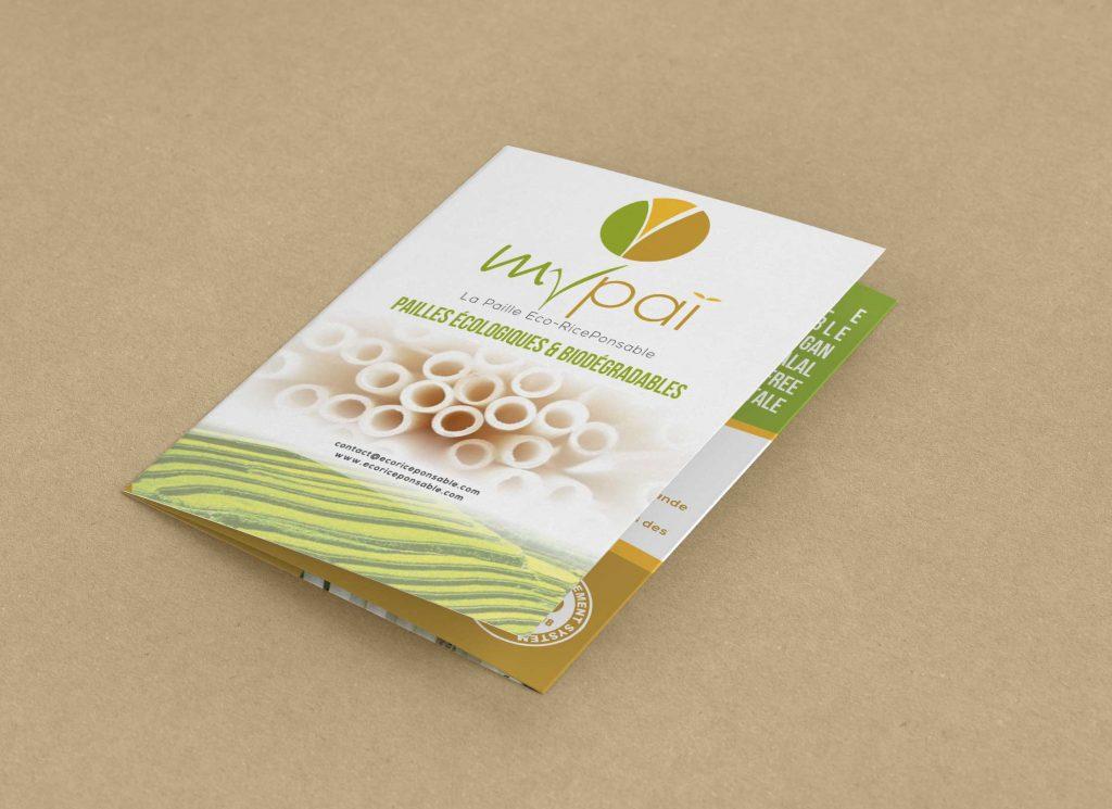 Plaquette commerciale Mypai, paille écologique