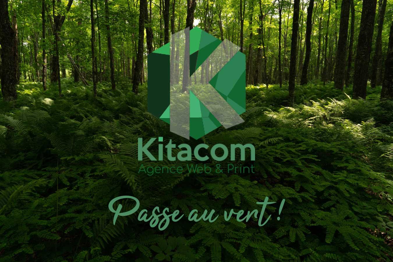 Kitacom, agence web à Pornic, passe au vert
