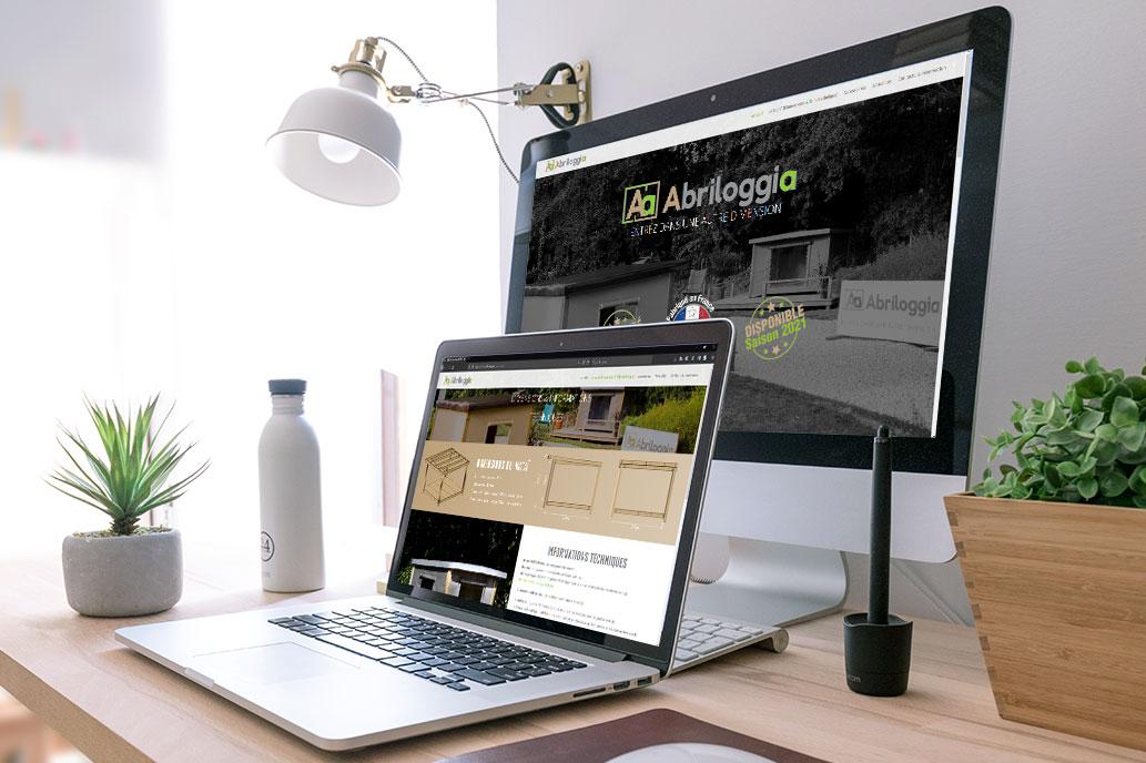 Création du site internet Abriloggia.com par Kitacom agence web à Pornic