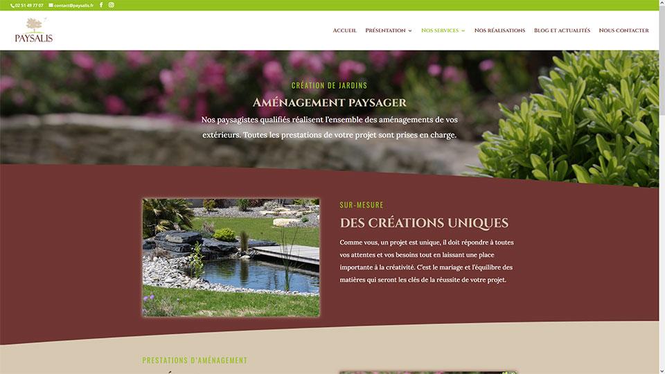Création du site internet Paysalis par Kitacom