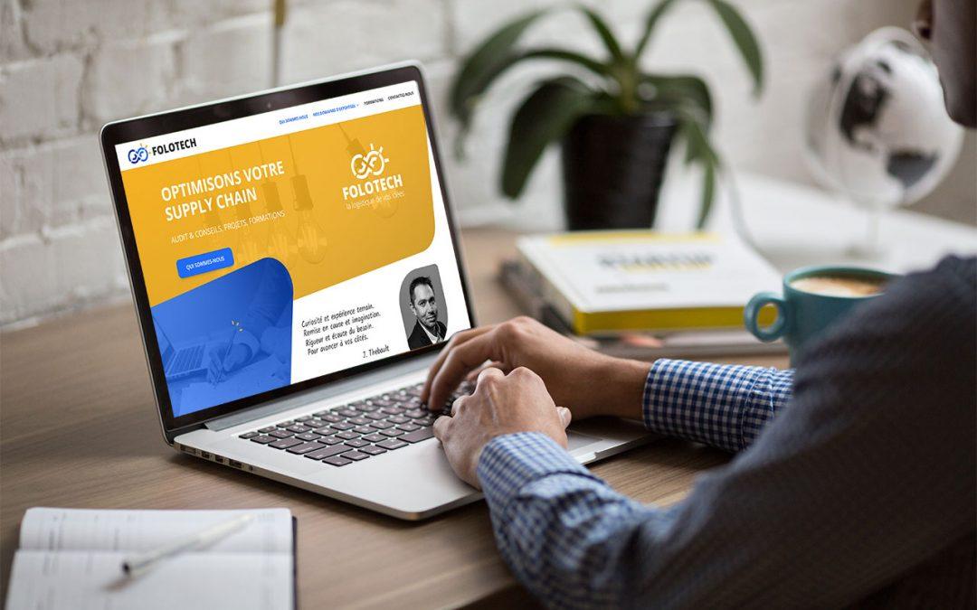 Création du logo et du site internet de Folotech, spécialiste Supply Chain